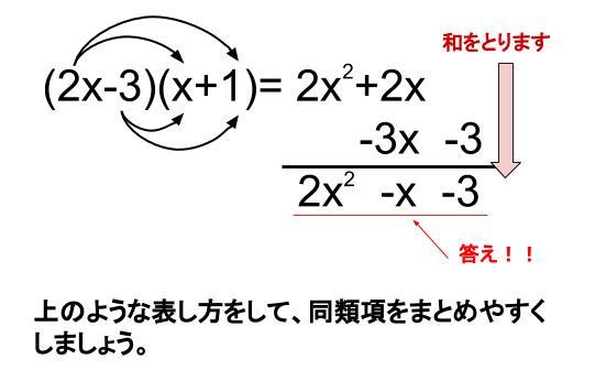 中学数学・高校受験chu-su- 多項式と多項式の乗法 分配法則 図4