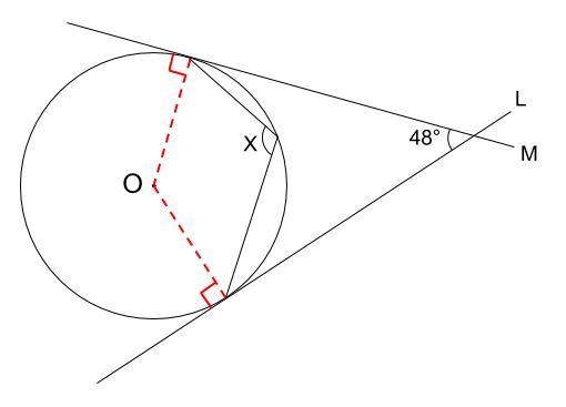 中学数学・高校受験chu-su- 円周角の定理 例題10 図2