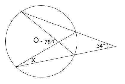 中学数学・高校受験chu-su- 円周角の定理 例題11 図1