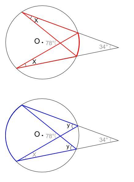 中学数学・高校受験chu-su- 円周角の定理 例題11 図2