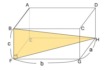 中学数学・高校受験chu-su- 三平方の定理 直方手の対角線 図04