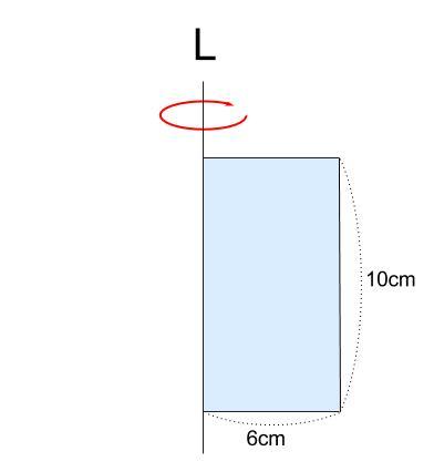中学数学・高校受験chu-su- 空間図形 回転体 円柱 図1-1