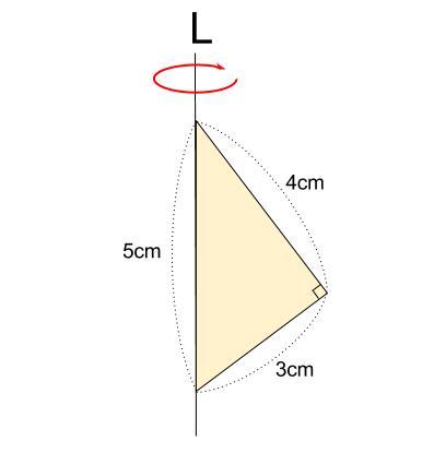 中学数学・高校受験chu-su- 空間図形 回転体 円すい+円すい 図6-1