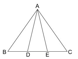 中学数学・高校受験chu-su- 証明 二等辺三角形の性質の利用 図1-1