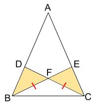 中学数学・高校受験chu-su- 証明 二等辺三角形である 図2-2