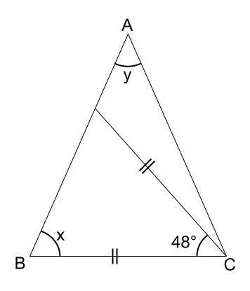 中学数学・高校受験chu-su- 図形 二等辺三角形 図2-1