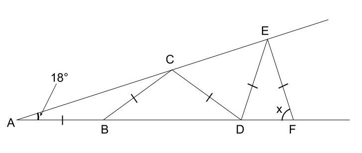中学数学・高校受験chu-su- 図形 二等辺三角形 図3-1
