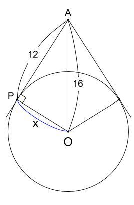 中学数学・高校受験chu-su- 三平方の定理 円と接線 図1