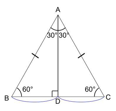 中学数学・高校受験chu-su- 図形 正三角形 図02