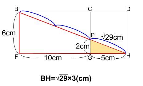 中学数学・高校受験chu-su- 糸の巻き付け 三平方の定理 図6