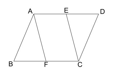 中学数学・高校受験chu-su- 証明 平行四辺形の性質の利用 図1