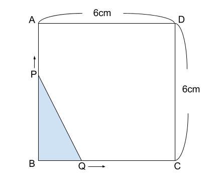 中学数学・高校受験chu-su- 2乗に比例 動点2-1