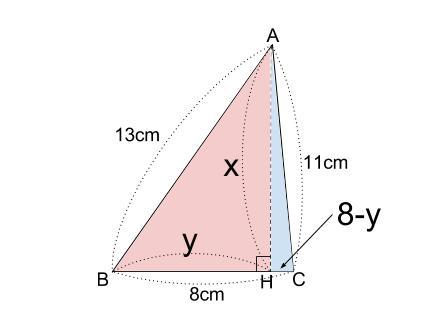 中学数学・高校受験chu-su- 3辺既知の三角形 図2