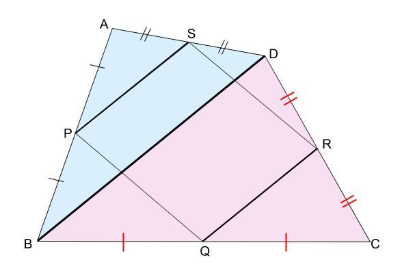 中学数学・高校受験chu-su- 中点連結定理 図1-7