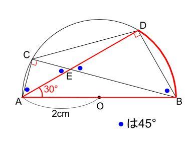 中学数学・高校受験chu-su- 円の総合問題・30度の利用 図6