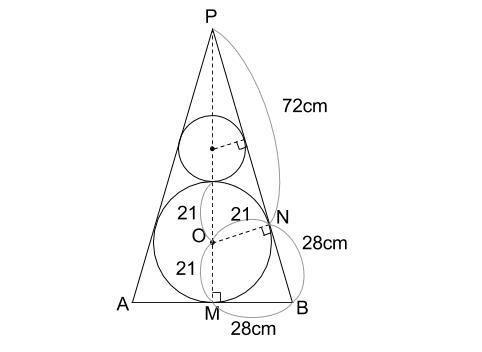 中学数学・高校受験chu-su- 円錐と内接球 追加 図2