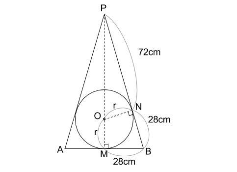 中学数学・高校受験chu-su- 円錐と内接球 図3