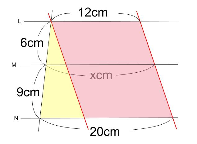 中学数学・高校受験chu-su- 平行線と線分の比 2-10