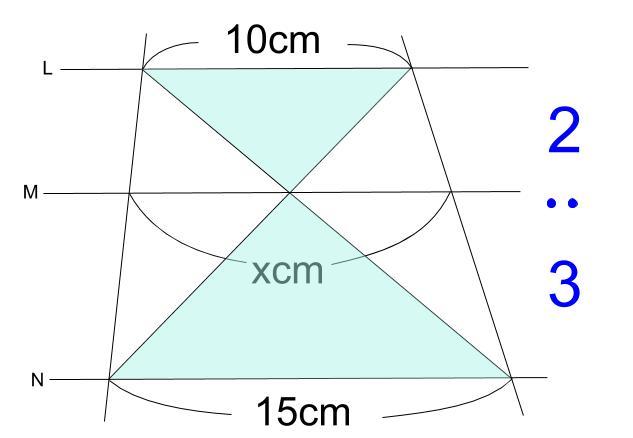 中学数学・高校受験chu-su- 平行線と線分の比 2-3
