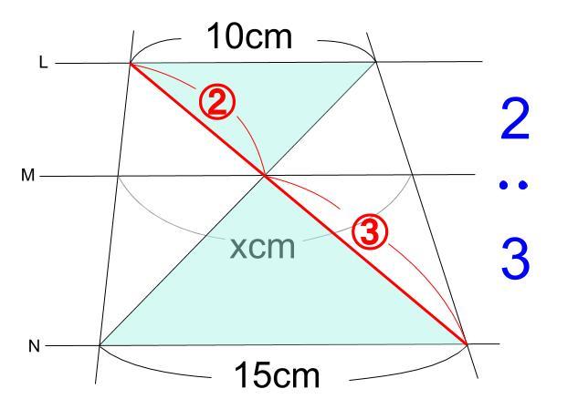 中学数学・高校受験chu-su- 平行線と線分の比 2-4