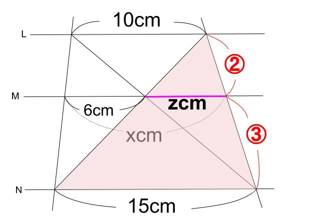 中学数学・高校受験chu-su- 平行線と線分の比 2-6