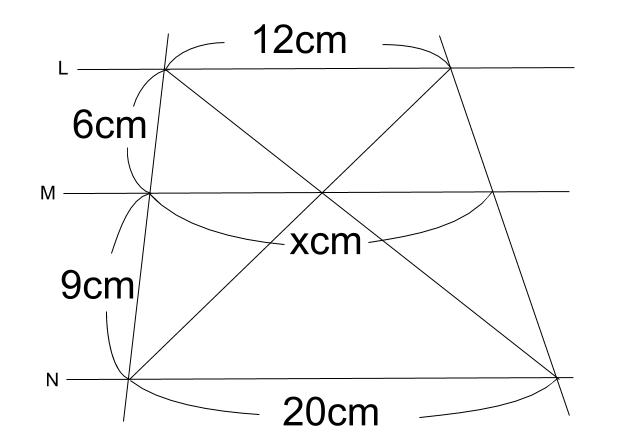 中学数学・高校受験chu-su- 平行線と線分の比 2-8