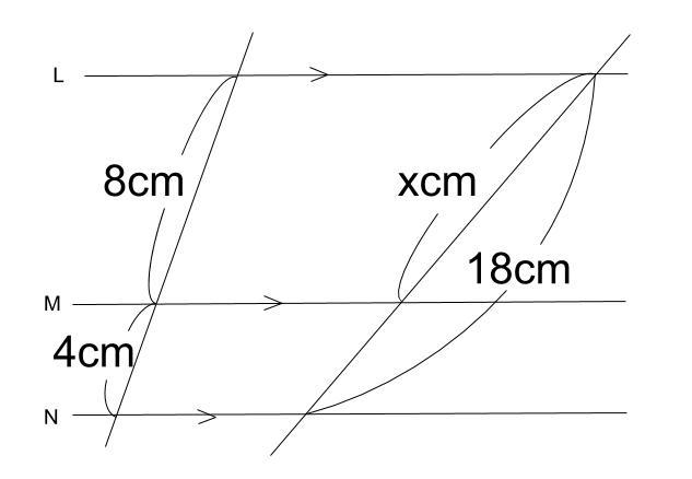 中学数学・高校受験chu-su- 平行線と線分の比 1-3