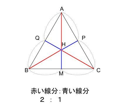 中学数学・高校受験chu-su- 正四面体の体積 正三角形の重心 図5-2