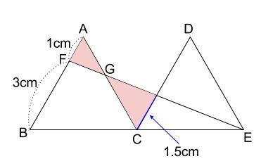 中学数学・高校受験chu-su- 正三角形と相似 図3