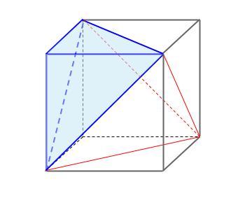 中学数学・高校受験chu-su- 正四面体の体積 図9