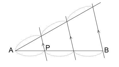 中学数学・高校受験chu-su- 線分の3等分 図2