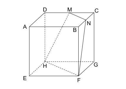 中学数学・高校受験chu-su- 立方体の切断面と頂点の距離 図1