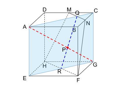 中学数学・高校受験chu-su- 立方体の切断面と頂点の距離 図2