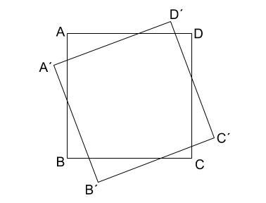 中学数学・高校受験chu-su- 回転の中心の作図1