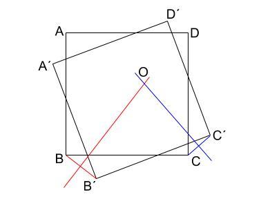 中学数学・高校受験chu-su- 回転の中心の作図4