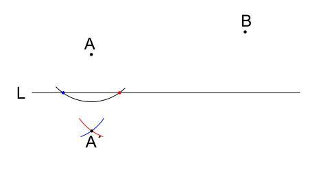 中学数学・高校受験chu-su-作図 折れ線3最短距離 図8