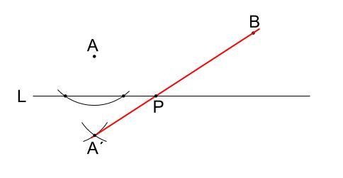 中学数学・高校受験chu-su-作図 折れ線3最短距離 図9