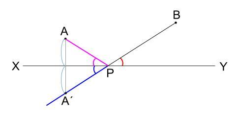中学数学・高校受験chu-su-作図 2角等しい 図4