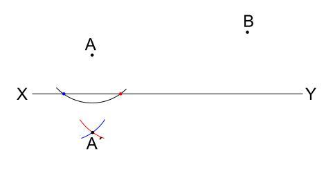 中学数学・高校受験chu-su-作図 2角等しい 図6