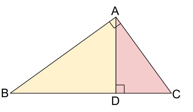 中学数学・高校受験chu-su- 直角三角形の相似 3分割 図1