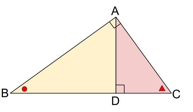 中学数学・高校受験chu-su- 直角三角形の相似 3分割 図2
