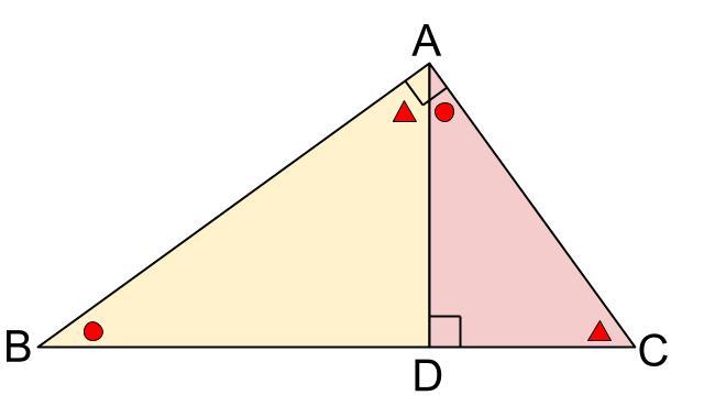中学数学・高校受験chu-su- 直角三角形の相似 3分割 図3
