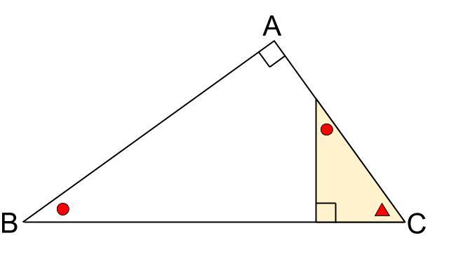 中学数学・高校受験chu-su- 直角三角形の相似 3分割 図4-22