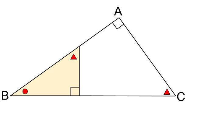 中学数学・高校受験chu-su- 直角三角形の相似 3分割 図4-1
