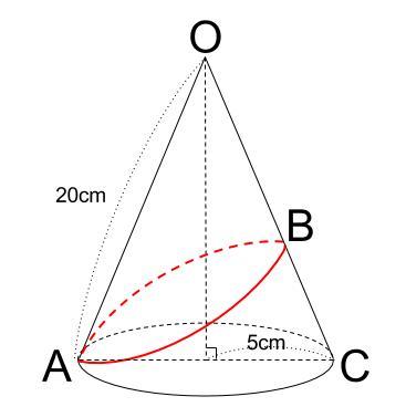 中学数学・高校受験chu-su- 三平方の定理 円錐表面1