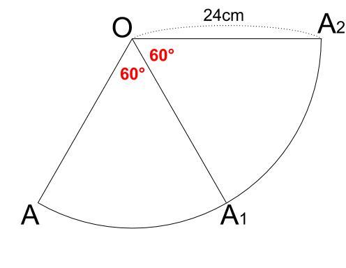 中学数学・高校受験chu-su- 円表面に糸を巻く 2周 その1-1