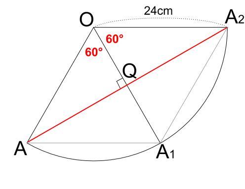 中学数学・高校受験chu-su- 円表面に糸を巻く 2周 その2