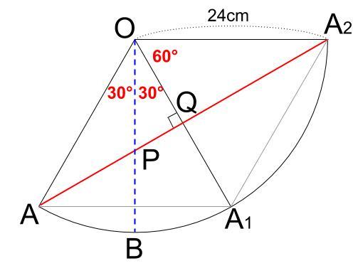 中学数学・高校受験chu-su- 円表面に糸を巻く 2周 その3