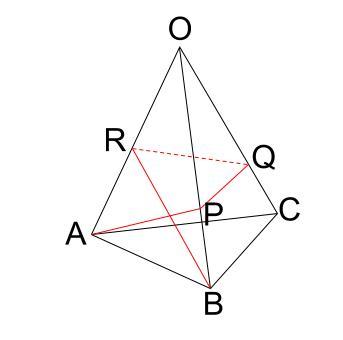 中学数学・高校受験chu-su- 三角錐表面に糸を巻く 4周 その1