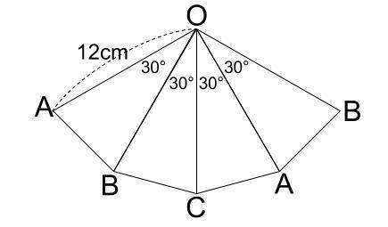 中学数学・高校受験chu-su- 三角錐表面に糸を巻く 4周 その2